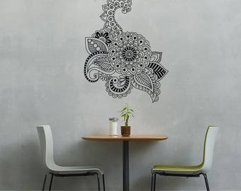 Boho Ornament Henna Mandala Vinyl Wall Decal Sticker