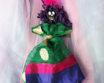 Voodoo Doll, Poppet, Love Strength, Wisdom, Authentic New Orleans, Altar Doll Handmade Vodou, Unique and colorful