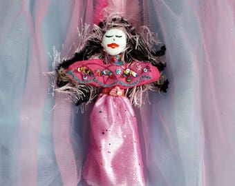 Voodoo Doll, Erzulie Frida, Art Doll, Loa goddess of love, handmade, one of a kind, Altar Doll, New Orleans, passion, romance