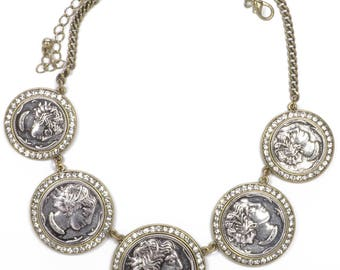 Sparking Coins Statement Necklace