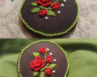 Hand Embroidered Brooch