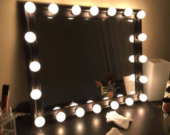 CUSTOM Hollywood Vanity Mirror makeup mirror lights included