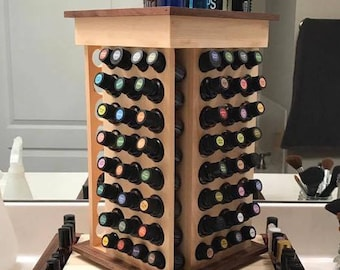 Large Essential Oil Rotating Storage, Organizing Rack Display - Two Toned