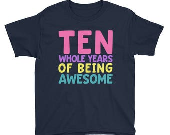10th Birthday Party Shirt - Ten 10 Year Old Shirt for Girls - Birthday Shirt for Girls 10 - Birthday Girl Shirt 10 Tenth Birthday Gift Shirt