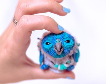 owl toy , ooak owl , owl art toy , mascot , ooak fantasy doll , ooak fantasy creature , art plush toy , art dolls