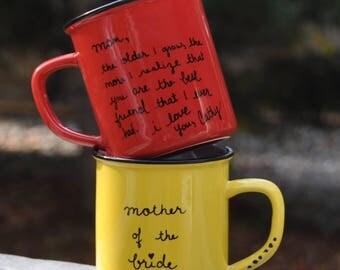 Mother of the bride wedding gift mug wedding mug mother of the groom coffee mug thank you gift mother of the bride gift mother of bride mug