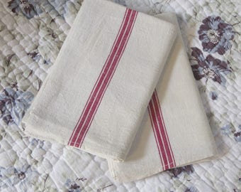 Pair of old linen towels new
