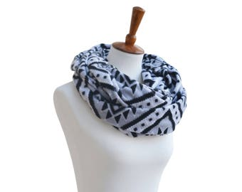 Boho Fleece Infinity Scarf - Winter Scarf - Circle Scarf - Cowl - Chunky Scarf - Scarves for Women - Fashion scarves - Winter Gift