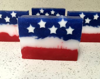 Stars and Stripes Apple Pie Soap