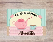 Spanish Mother's Day Greeting Card Printable for Grandmother