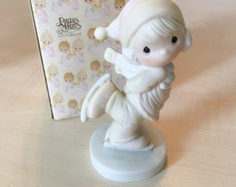 Vintage Precious Moments Dropping In for Christmas Figurine E-2350
