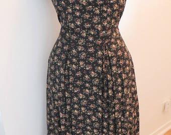 Vintage 1980's Floral Country Long Dress / Joni Blair