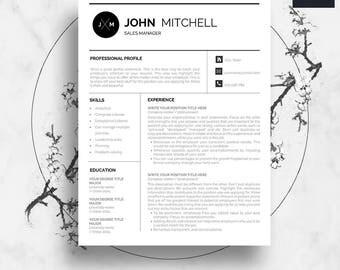Modern Resume Template, Resume Template, Resume Writing, Professional Resume  Template, Teacher Resume