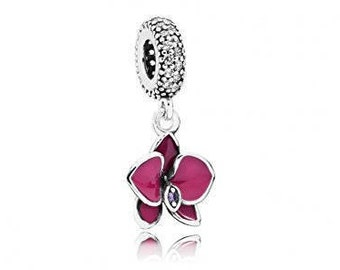 NEW Authentic PANDORA Orchid, Clear & Purple Cz Radiant Orchid, 791554EN69