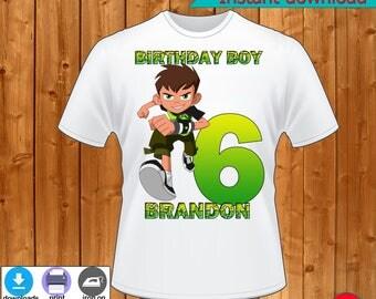 Ben 10  birthday T-Shirt, Ben 10  birthday, Ben 10  birthday Party T-Shirt,Ben 10 birthday Family T-Shirt-INSTANT DIGITAL DOWNLOAD