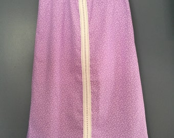 Girls Purple Modest Skirt Girls Size 12-14 with Beautiful Heirloom Candlewicking embroidery and Professionally Blind Hemmed Free Shipping
