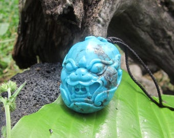 Turquoise Nacozari Carving. S1081