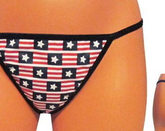 Patriotic Thongs Etsy