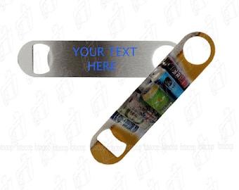 Custom Bottle Opener Personalized Beer Opener Stainless Steel Bartender Gift Promotional