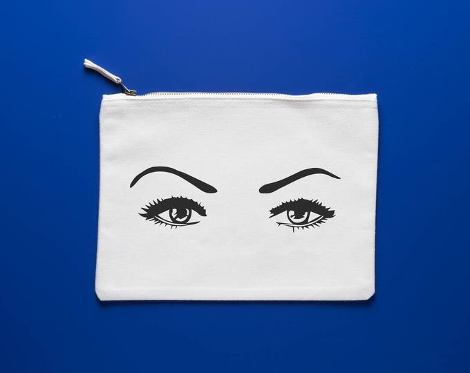 Featured listing image: The Eyes have it: Makeup Bag / Mini Clutch / Accessory Bag