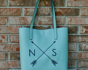 Personalized Pleather Tote