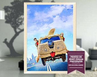 Dumb and Dumber poster, fan art, Dumb and Dumber print, Dumb and Dumber, cool posters, Dumb poster, Dumb print, cool GIFTS, Christmas gift