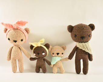 Bear Family Crochet Amigurumi Pattern / Photo Tutorial