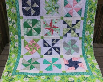 Spinning In The Rain Quilt