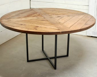 round wood industrial dining table wood furniture modern kitchen table kitchen table - Dining Table Round Wood