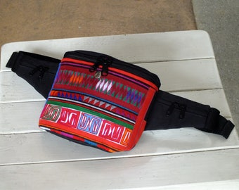 Hill tribes Image and cloth Fanny Pack(Akha Tribes Waist bag)