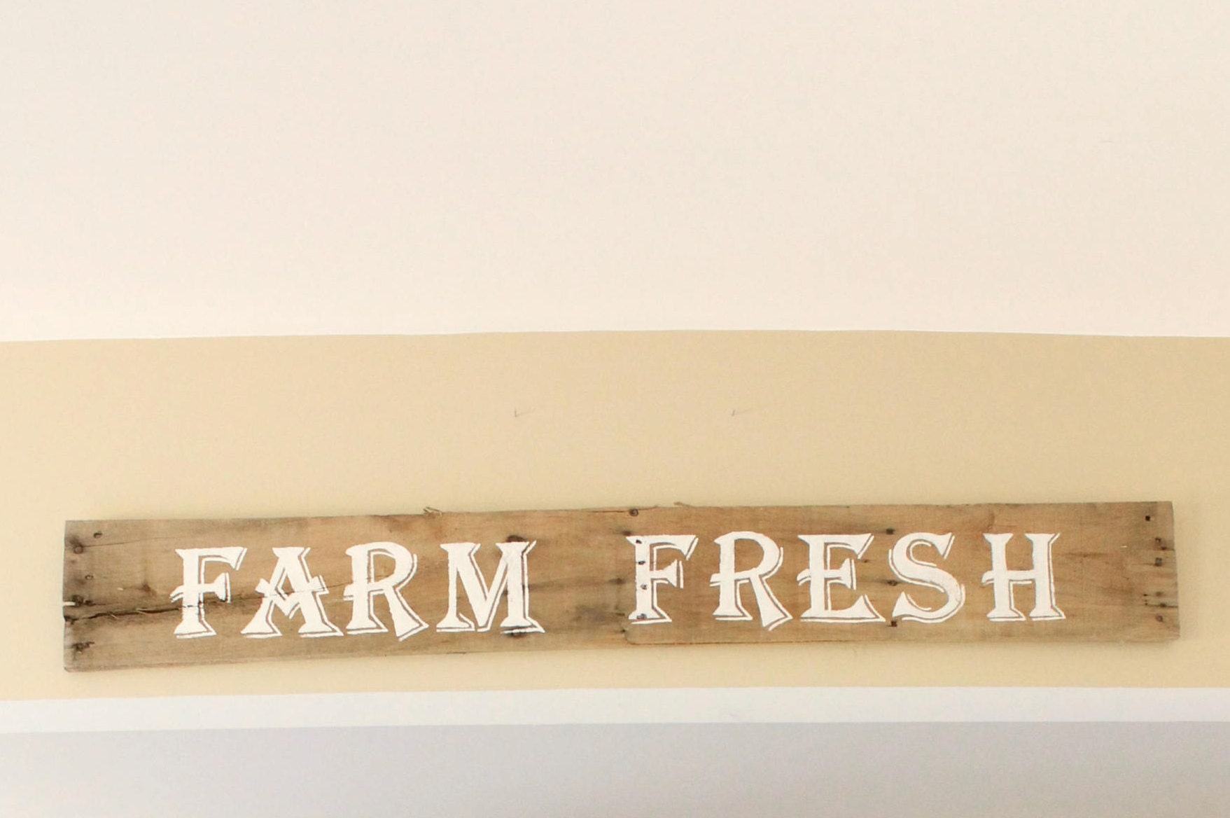 Rustic Farm Fresh Wood Sign, Rustic Home Decor, Hand Painted ...