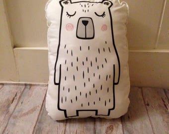 BEAR cushion, bear fabric panel, bear plushies, bear plush pattern, plushies panel, plushies kit, plush pattern, softies panel, fabric panel