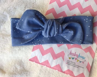 Top knot cotton headbands