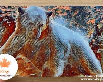 Polar bear art, polar bear card, bear art, arctic wildlife, bear card, nature art, nature card, Manitoba art, Winnipeg art, wildlife card