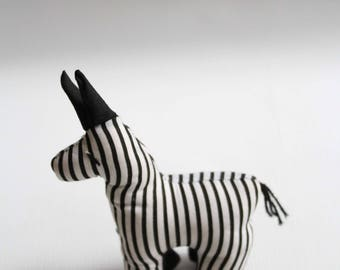 Stuffed Zebra, Nursery Decor, Soft Toy, African Zebra, African print, Zoo animal, Zebra, Stuffed animal