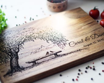 Wedding Gift for Couple Personalized Cutting Board Wedding Gift Ideas Love Birds Bridal Shower Gift for Wedding Romantic gifts for her