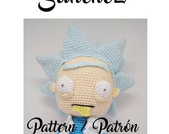 Rick Sanchez amigurumi pattern pdf crochet doll, Rick sanchez amigurumi patron ganchillo, adultswim, rick and morty amigurumi pattern,