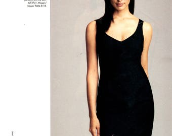 Vogue 2741 DKNY Misses' Dress, Top & Skirt (14-16-18) Uncut, YR 2003
