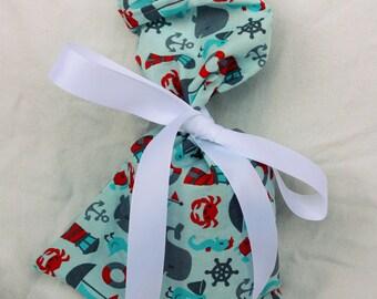 Cloth Gift bag - Nautical Gift Wrap - Reusable Gift Bag, Eco Friendly Gift Bag (misc.)