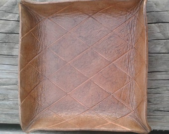 Leather Decorative Catch All Tray