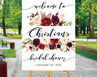 Bridal shower welcome sign, Welcome wedding sign, Bridal shower welcome sign poster, bridal sign, Digital Download, Bridal shower sign, #23