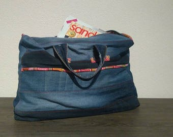 Shopping bag from recycled jeans