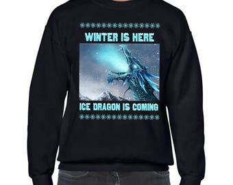 Game of Thrones, Ice Dragon, Ugly Christmas Sweater Party, Got Ugly Christmas Sweater, Ugly Sweater Party,Game of Thrones Christmas Jumper