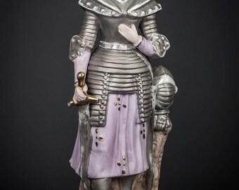 RARE St Joan of Arc Porcelain Statue Vintage Martyr Figurine Jeanne d'Arc 6