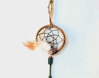 Dream Catcher Healing Crystal Decor Howlite Crystal Reiki Holistic Gift Art Healing DreamCatcher Holistic Gypsy Boho Minimalistic Modern