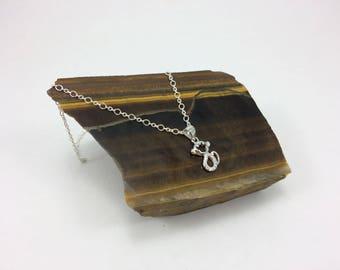 Sterling Silver Necklace, Monkey Necklace, Sparkly monkey necklace,  Girls necklace,  Kids  necklace, Cute necklace