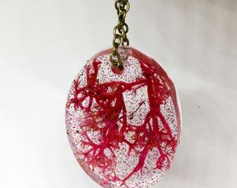 Sea Princess Oval Pendant Necklace