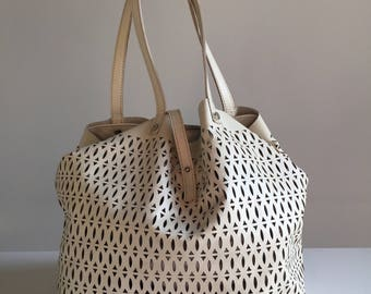 Hand-Made Leather Tote Bag