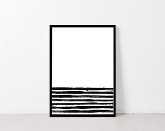 Exceptionnel Minimalist Wall Art Black Poster Printable Wall Art Scandinavian Interior  Abstract Lines Black And White Gallery