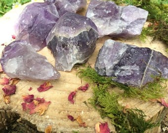 Sobriety Stone Natural AA Grade Ethically Mined  Raw Thunder Bay Amethyst Cobs Canadian Amethyst Natural Chevron